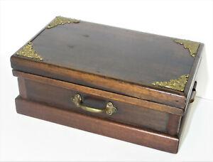 Antique Victorian Mahogany Jewelry Dresser Box