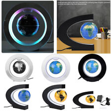 C O Magnetic Floating Globe LED Light Anti-gravity Levitating Rotating World Map