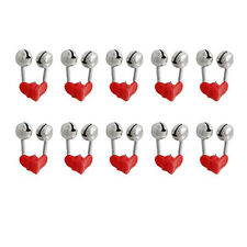 10PCS Alarm Accessories Sea Fishing Rod Clamp Twin Bell Rings Bite Lure Tips
