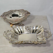 Two Possibly Silver Plated or Sterling Silver Trays by Sitra, from Uae, No Boxes