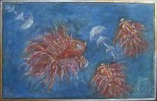 Dolores Stephanya Unger 1986° Poisson et Méduse Marines Rarement Moderne Mer