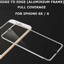 Tempered Glass Screen Protector Aluminium Edge's Frame Silver for iPhone 6s / 6