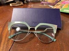 green fendi glasses silver tipped euc
