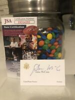SENATOR JOHN MCCAIN HAND SIGNED IN PERSON BUSINESS CARD w/ *JSA*