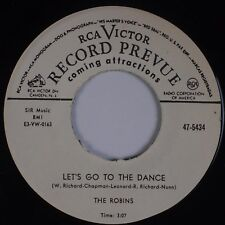 ROBINS: Let's Go to the Dance / How Would You Know RCA Doo Wop RE 45