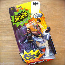 BATMAN Classic TV Series CATWOMAN Action Figure with Collector Card Mattel 15cm