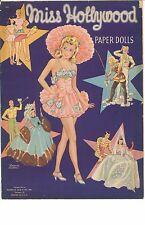 VINTGE UNCUT 1942 MISS HOLLYWOOD PAPER DOLL ~LILJA~ORG SZ ~LASER REPRODUCTION