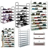 5/8/10 Tiers Shoe Rack Shoe Tower Cabinet Storage Organizer Space Saving DIY