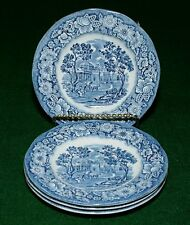 "4 Liberty Blue Dessert plates 6"" Monticello Staffordshire Ironstone"