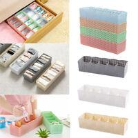 5 Grids Plastic Storage Basket Box Cosmetic Organizer For Socks Underwear US HOT