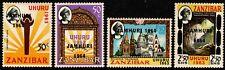 Zanzibar 1964 Independence Overprints Set(4), SG410-413 Hinged Mint