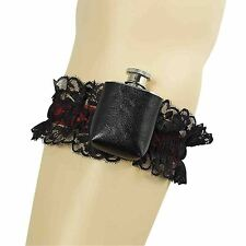 Sexy Pirate Steampunk Garter with Hip Flask Womens Fancy Dress Costume Accessory