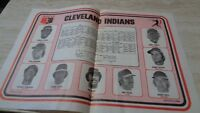 1976 MLB Cleveland Indians Schedule Placemat  - 9 Players - MSA