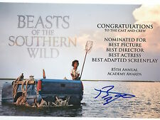 Benh Zeitlin signed Quvenzhane Wallis' Beasts of The Southern Wild 8x10 Photo