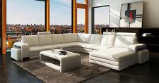 Wohnlandschaft Sofa Couch Polster Leder Sitz Ecke Garnitur XXL Big EDEN U Form