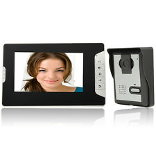 "7"" Wired LCD Display Monitor Video Door Phone Intercom Doorbell Night Vision US"