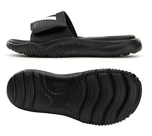 Adidas Men Alpha-bounce Slide Slipper Training Black Shoes Beach Sandals FZ0387