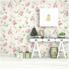 Peel and Stick Floral Wallpaper Victorian Ivory/Pink/Green Contact Paper