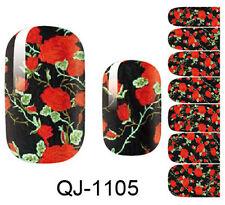 Flower 3D Design Nail Art Water Transfer Decal DIY Manicure Tips Sticker
