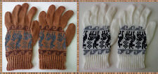 PERUVIAN LOT 10 PAIRS GLOVES ALPACA WOOL KNITTED IN NATURAL COLORS!!
