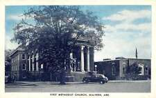 Malvern Arkansas First Methodist Church Street View Antique Postcard K32348