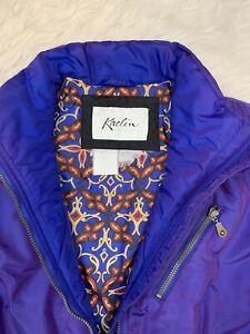 Vintage Kaelin Women's Iridescent Purple Embroidered Ski Suit Snowsuit 6