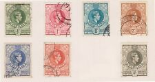 (BTT-147) 1937 Swaziland part 7set KGVI postage revenue stamps 1/2d to 1/- (XS)