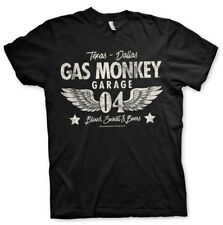 Gas Monkey Garage Wings Logo 04 Official Fast N' Loud Black Men T-shirt