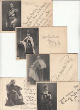 British royaty set W. & D. Downey photo postcards George Edward H.M. Queen 1900s