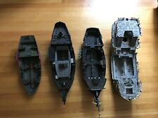 Mega Bloks Pirate Ship Lot Incomplete Replacement Pieces From 4 Boats Blocks