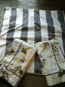Martha Stewart Pillow Sham Set (3) Lime, Gray, Cream