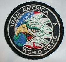 ECCUSSON PATCH TEAM POLICE AMERICA OPEX TRES RARE DE COLLECTION AFGHANISTAN