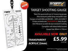 Snappy obiettivi-Target Shooting Gauge-air gun, Air fucile, Acrilico Trasparente