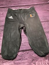 NEW Adidas University of Miami Hurricanes Football Pants Sz L Game Pant NWT