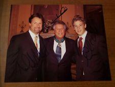 Signed Andretti Family Photo 8x10 Mario, Michael, & Marco