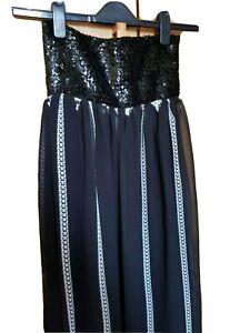NEXT LADIES  BLACK SEQUIN TOP MAXI DRESS PREGNANCY DRESS S 10 12 M