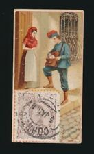 "1889 N85 Duke's Cigarettes POSTAGE STAMPS (""Genuine Foreign"") Spanish Letter Car"