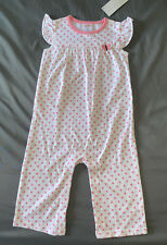 Baby Girl 12-18 Month Gymboree Pink Polka Dot Butterfly One Piece Romper