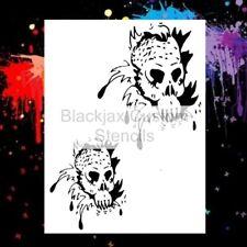 Sea Creature Skull Set 01 Airbrush Stencil,Te?mplate
