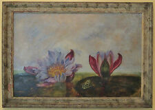 Listed Canadian Artist Gertrude Burgoyne Vintage Oil on Glass Painting AAM