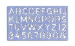 Plastique Lettrage Pochoir Kit Lettres & Numéros Alphabet 5mm Pour 30mm 4