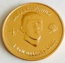 New Orleans Saints NFL Dan Danny Abramowicz Doubloon Coin Token Xavier Vtg Old !