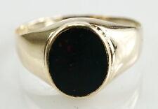 Glamouröser 333er 8 Karat Gold Ring mit Heliotrop Edelstein 2,45 Gramm