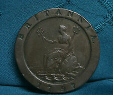 Great Britain 1797 2 Pence Copper World Coin UK Britania Large 2 penny two Cent