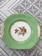 Beautiful green floral cake or bread & butter plate