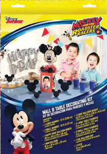 Disney Mickey Birthday Party Supplies Wall And Table Decorating Kit SHIPS FREE