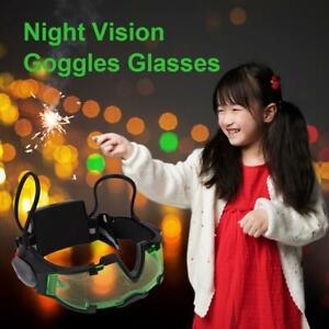 Adjustable Elastic Band Night Vision Goggles Glasses Protect Eye Shield W/ LED