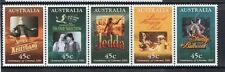 AUSTRALIA 1995-CENTENARY OF THE CINEMA STRIP OF 5  MUH