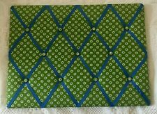 VERA BRADLEY APPLE GREEN/FRENCH BLUE FLOWER PHOTO/MESSAGE BULLETIN RIBBON BOARD