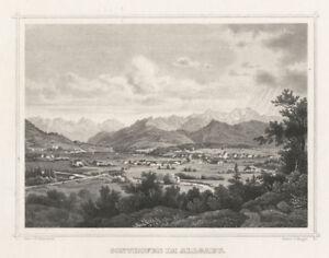 Sonthofen (Allgäu): Stahlstich von Riegel/Scheuchzer, ca. 1880